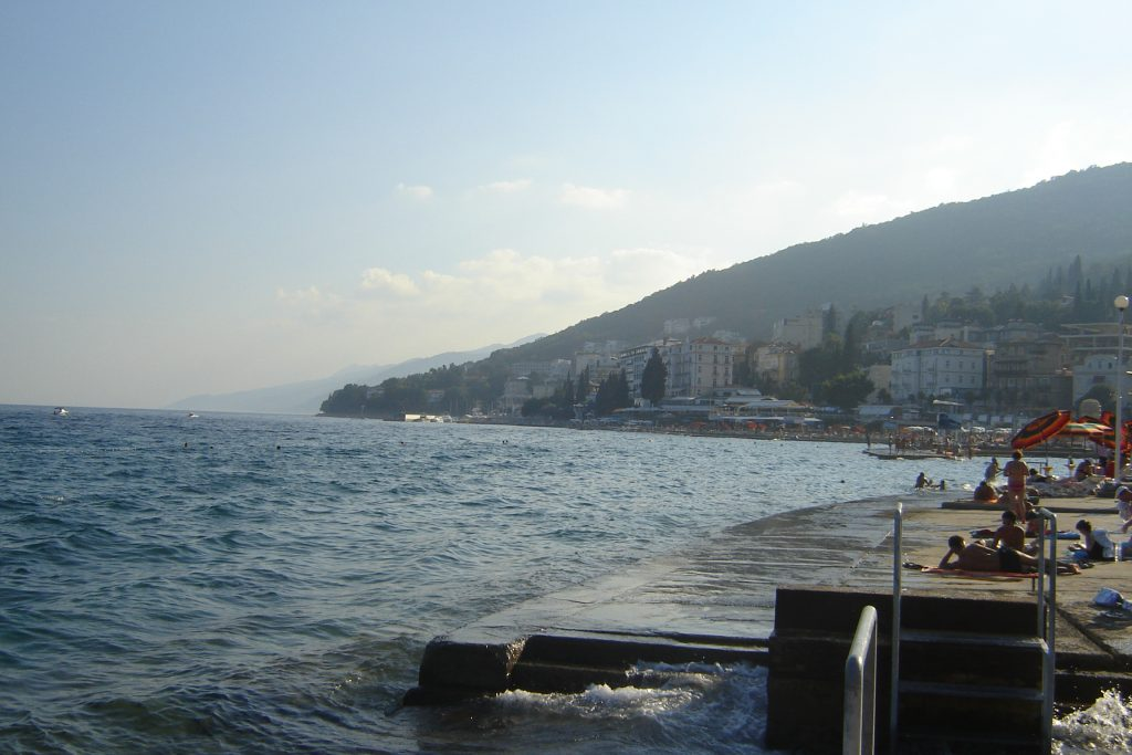 Central beach town of Opatija