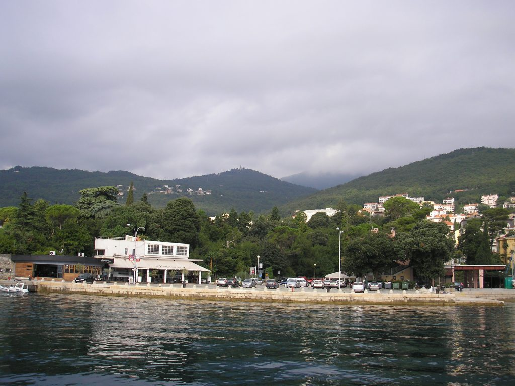 View of the city from the sea