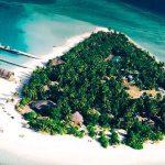 вид острова с воздуха