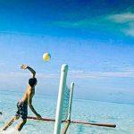 волейбол в море