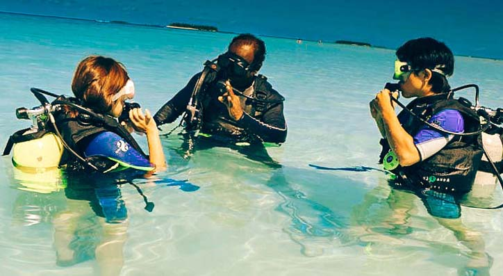 diving with an instructor