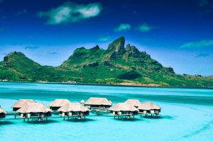 Bora Bora Hotels at sea