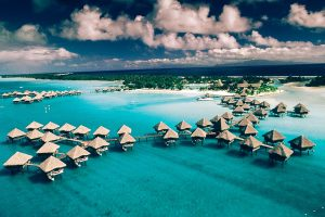 Top view of Bora Bora