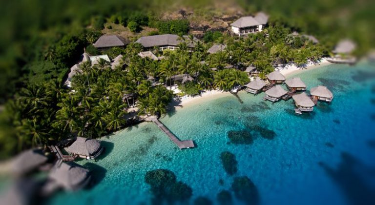 Aerial view Hotel Le Maitai Polynesia