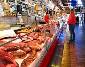 ヨーテボリの魚市場