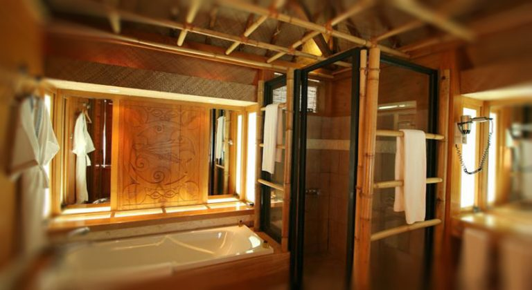 Bathroom in bungalow surfaced