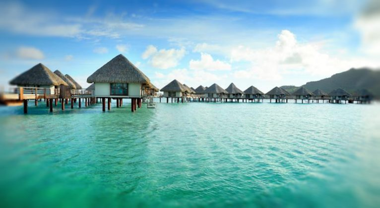 Wasserbungalows in Bora Bora