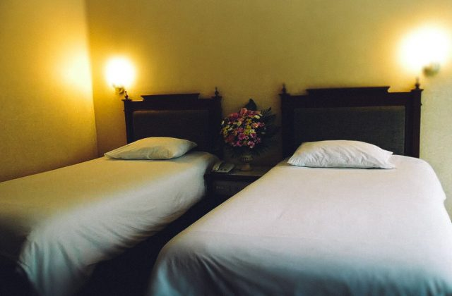 Room with two large double beds in the hotel Garden Pattaya