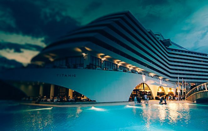The famous hotel Titanic Beach Lara 5*