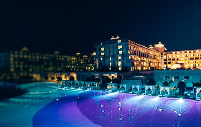 Heated pool Hotel Titanic Deluxe Belek